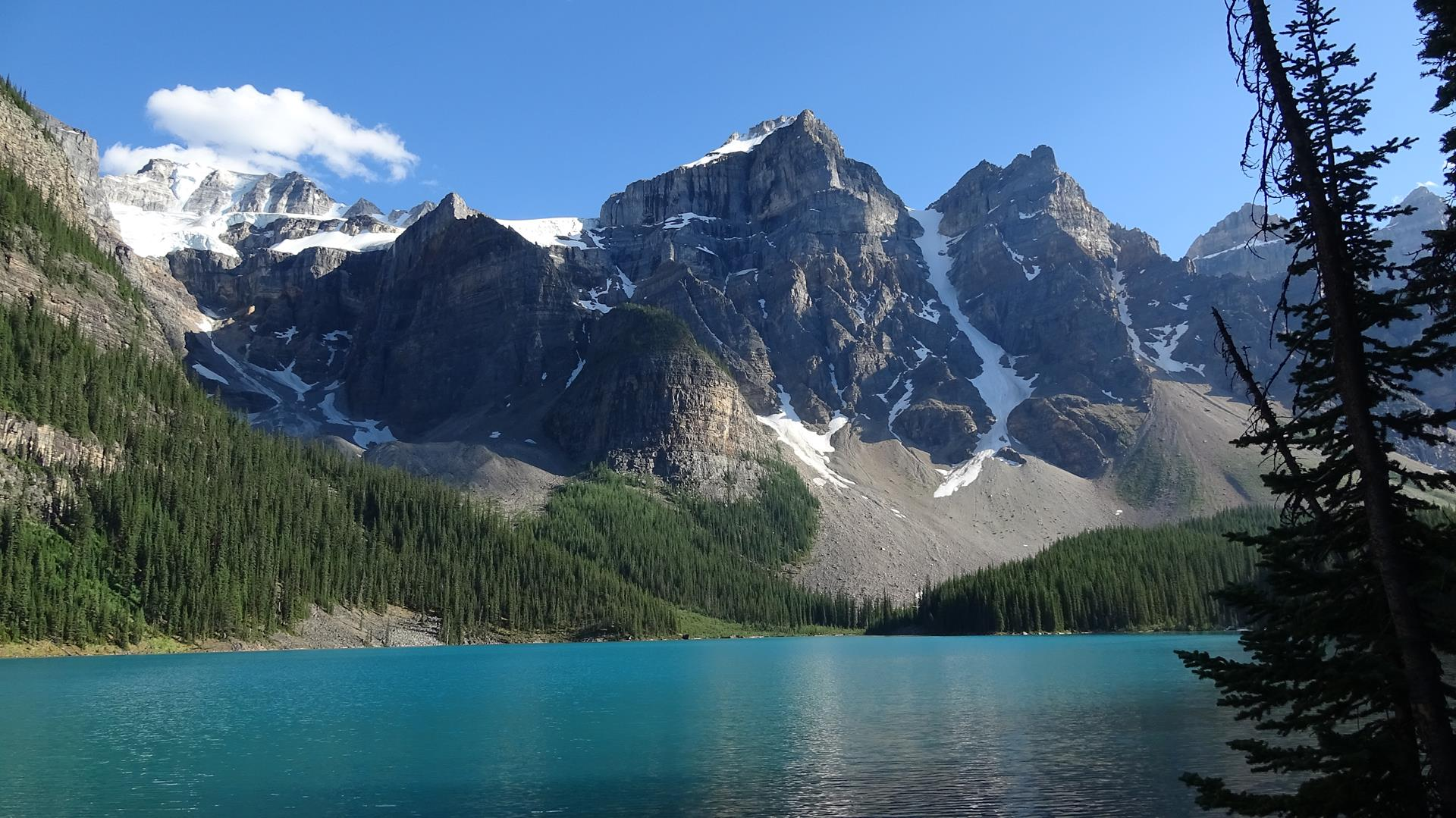 The wild beauty of lake Moraine