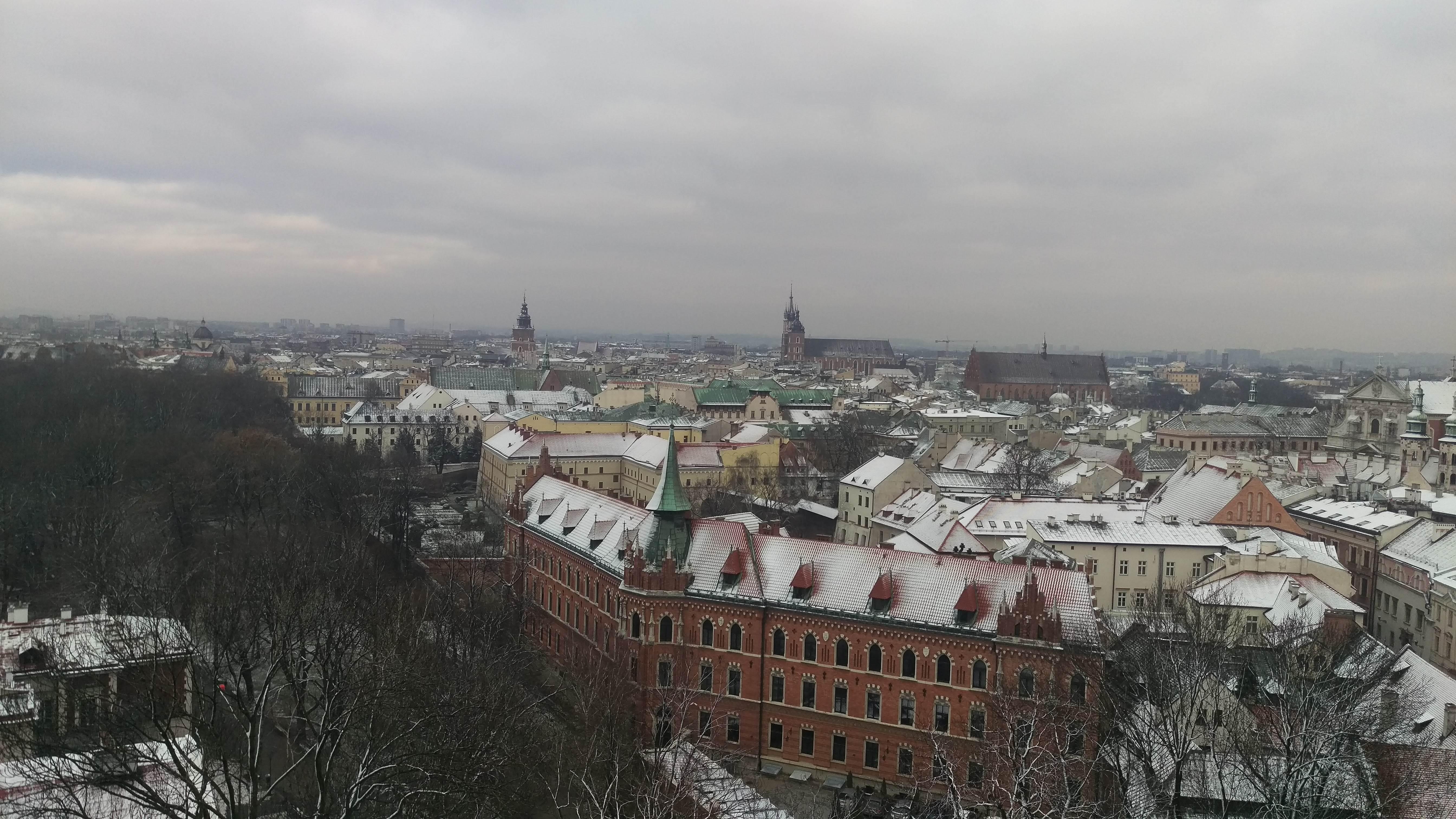 Snowing Krakow