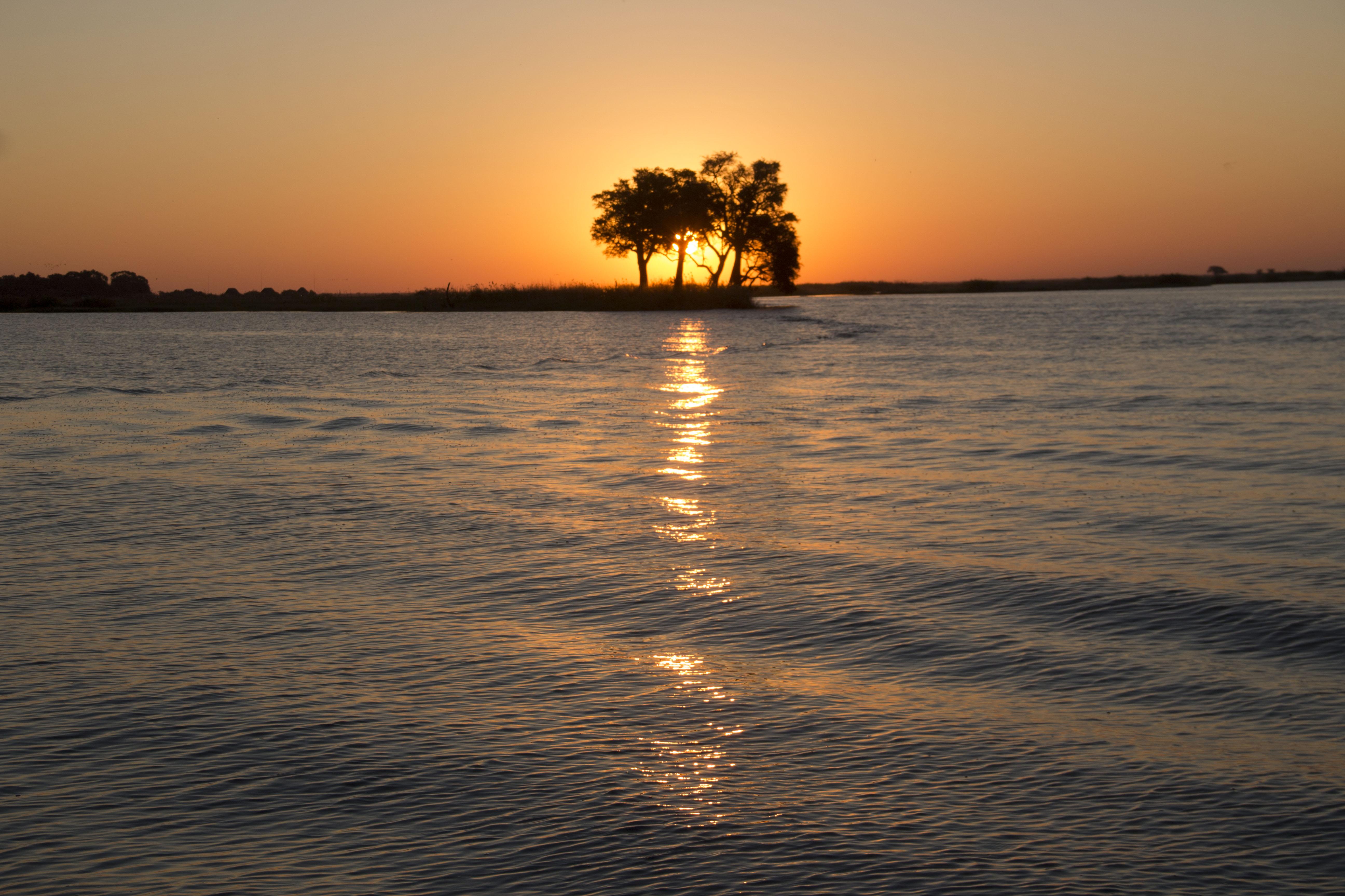 Posta de Sol  a Chobe NP