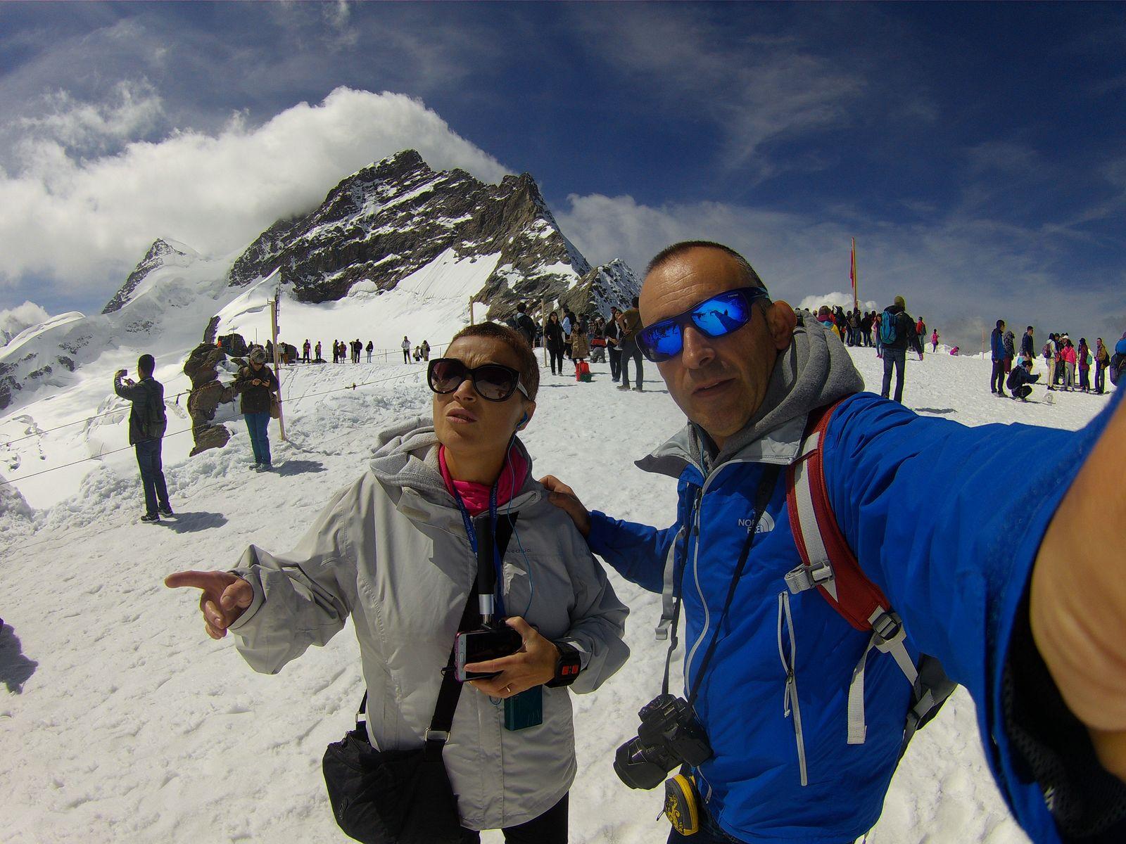 Junfraujosch la montaña mitica de los alpes